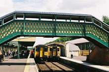 Okehampton Railway Station.- copyright john spivey. Click to go to the Okexrail who at planning to bring regular services back to Okehampton.